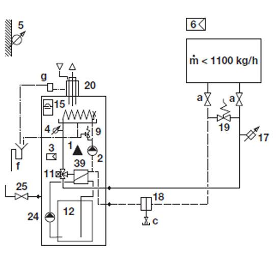 Hydraulikschema DUATRON Kompakt Standard 1-6-C