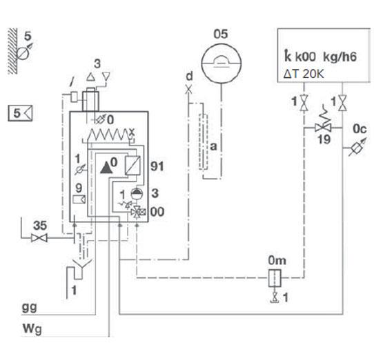 Elco Hydraulikschema SMARTRON Combi 25 Standard 1–6-C