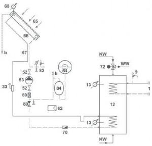 Systemvorschlag Solar 7 (1 Kollektorfeld)