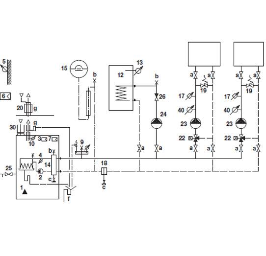Hydraulikschema TRIGON L Standard 4 – 5 – A-B - C