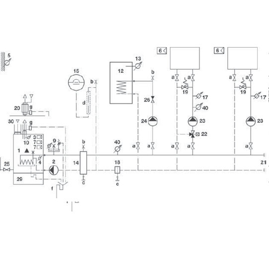 Hydraulikschema TRIGON S 33-1-44-1 Standard 3–5–A-B–C